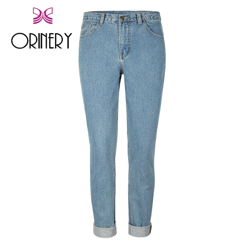 ФОТО ORINERY Size 24-30 Hot Sale Vintage Solid Jeans Women 2017 New Designer Denim Pants Fashion Jeans For Women Brand Clothing