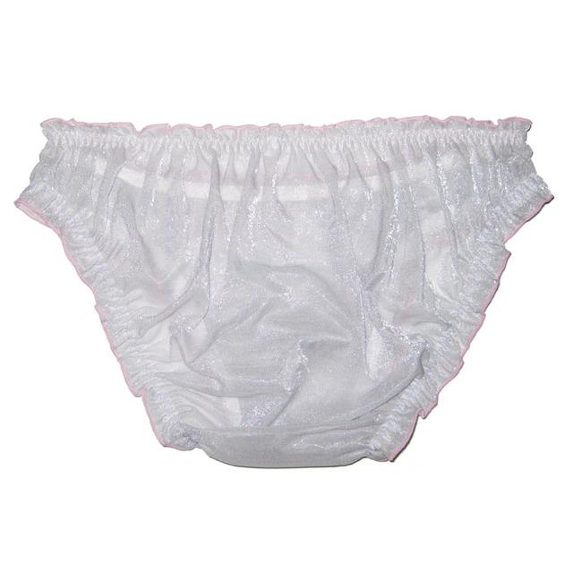 2018 Sexy gay men's underwear Transparent Ultra-thin CD men Briefs Light yarn Breathable sissy Underpants male Jockstrap