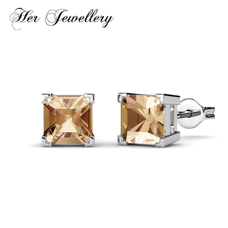 Ses bijoux 7 jours boucles d'oreilles ensemble fait avec des cristaux de swarovski, offre spéciale boucles d'oreilles bijoux pour les femmes HE0234 - 4