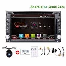 Quad Core 4 2din android 6.0 2 din Reproductor de radio del registrador de cinta de DVD Del Coche de Navegación GPS En el tablero de volante