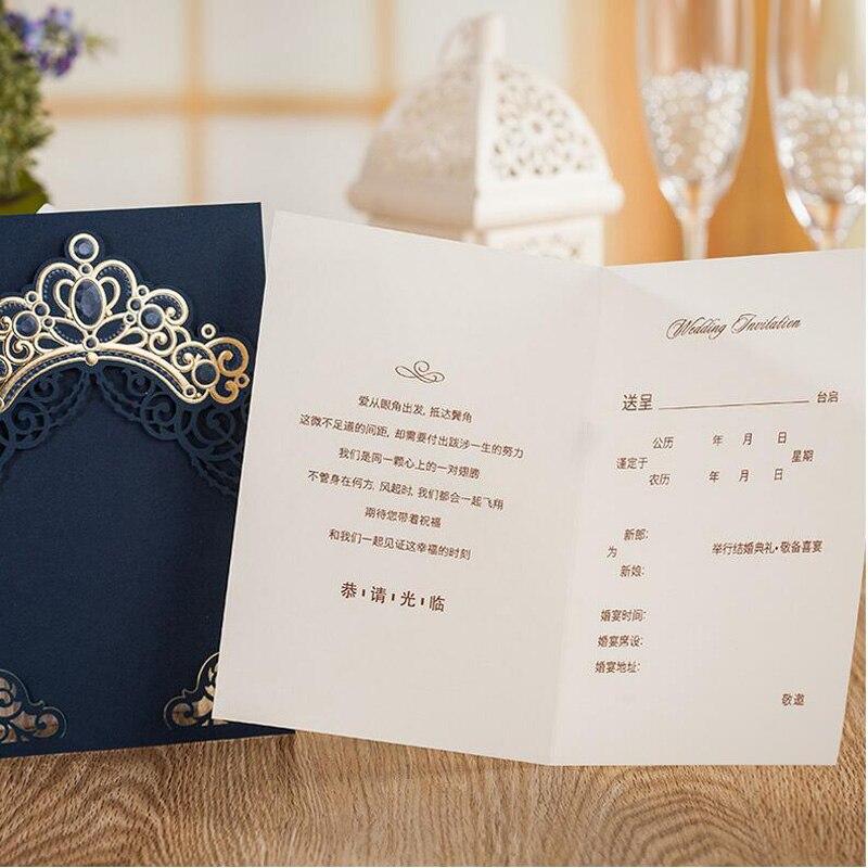 Royal Gold Rosa Rot Navy Blaue Laser Geschnitten Hochzeit Einladung Karten  Mit Gold Geprägte Hohl Flora Krone Für Hochzeit Braut Dusche In Royal Gold  Rosa ...