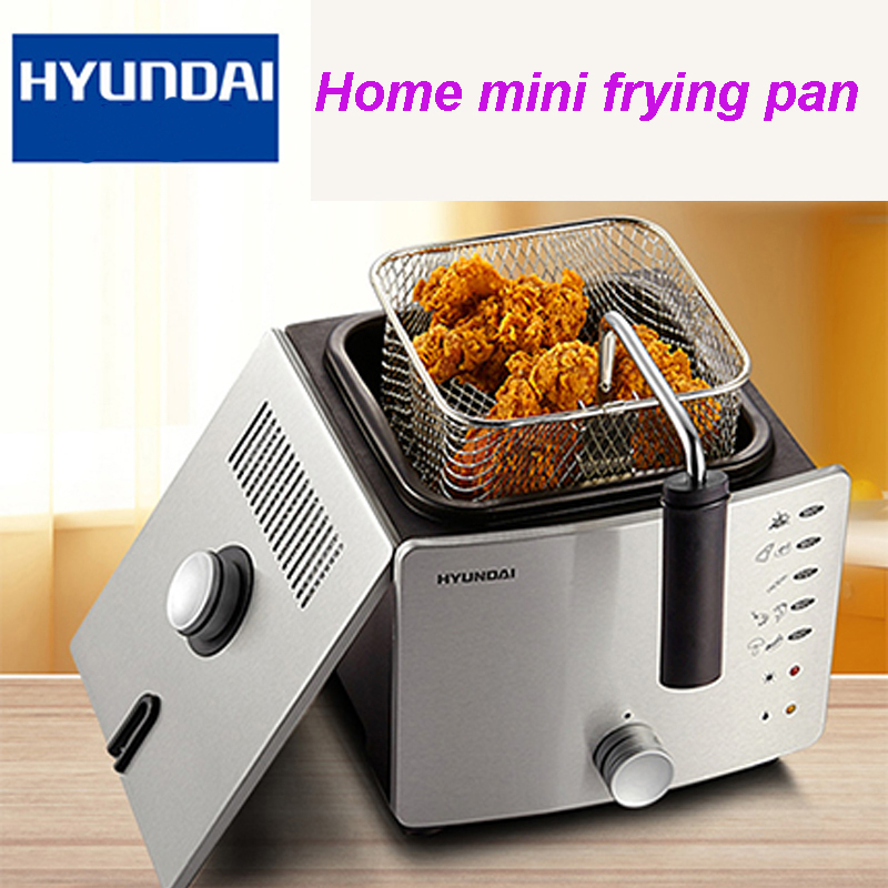 Fryer New Arrival Constant Temperature Electric Deep Fryer Household Multifunctional Small Frying Pan Smokeless Hot Pot DF-27 lcd deep air fryer household intelligent no fumes 2 8l high capacity black third generations upgrade electric fryer