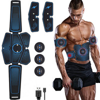 Abdominal Muscle Trainer EMS Fitness Equipment Training Gear Muscle Exerciser Stimulator Belt Belly Arm Leg Massage USB Charged