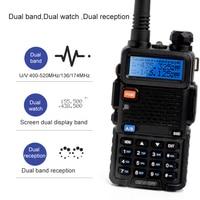 UV 5R Walkie Talkie Dual Band Two Way Radio Pofung 1800mah Portable Ham Radio Transceiver UV5R Handheld Toky Woky
