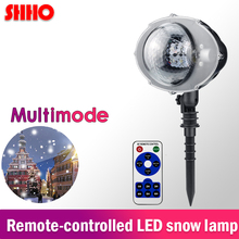 Hot sale LED module remote control waterproof snow projector lamp Christmas stage light for decoration home festival party
