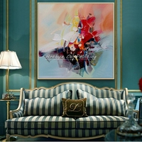Arthyx Art Hand Painted Abstract Design Knife Oil Painting On Canvas Wall Picture Modern Home Decoration Pop Art For Living Room