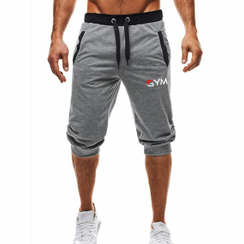 NEW Summer Brand Mens Jogger Sporting Thin   Shorts   Men Black Bodybuilding   Short   Pants Male Fitness Gyms   Shorts   for workout