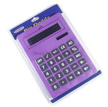 2017 New Office Handheld Calculator Large Solar Big Calculator 8 digits A5 Size 5 Colors Cute Calculadora 0.7kg