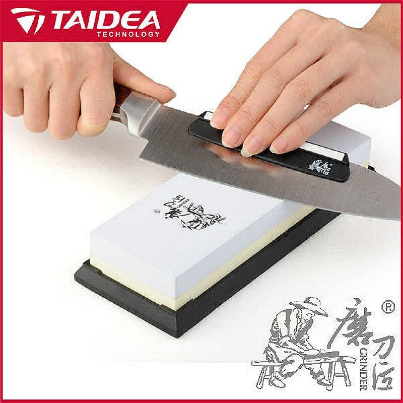 Image 3 - TAIDEA 1000 3000 Grit  Travel Knife Sharpener Corundum Whetstone  Double Sided Knife Sharpening Stone Outdoor Tool  Knife guideknife  guidetaidea 1000/3000knife sharpener