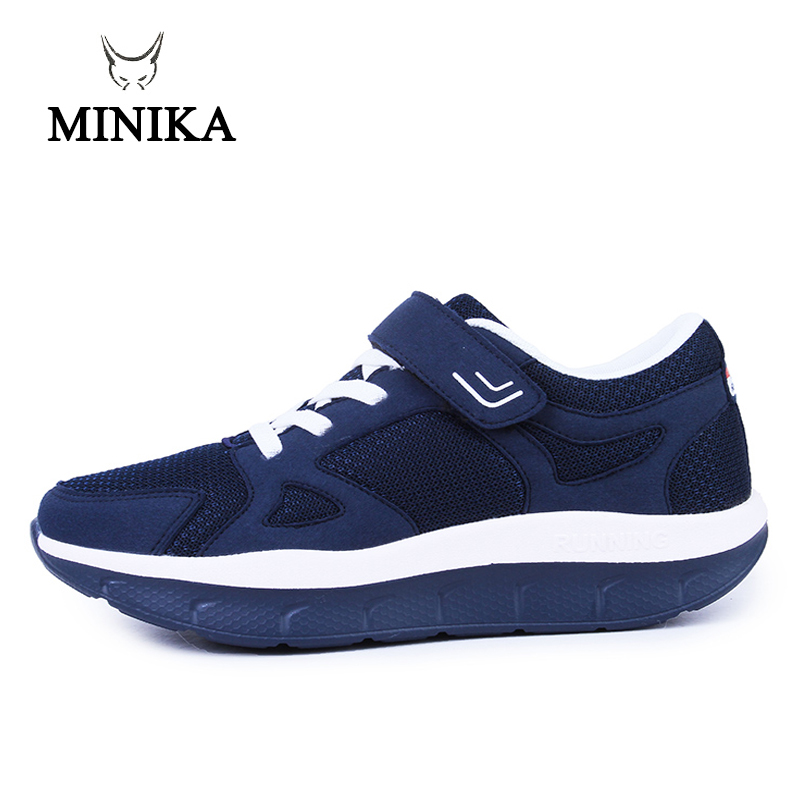 Women Comfortable Swing Platform Shoes Mother Breathable Mesh Shoe Zapatos De Mujer 2018 Fitness Sport Sneakers Sapatos Mulher
