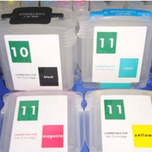 FOR HP 10 and for HP 11 4 COLOR REFILLABLE CARTRIDGE WITH AUTO RESETTING Chip printer