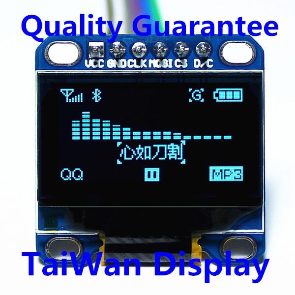 High Quality 0.96 Inch Blue Color OLED Display Module 0.96 12864 SPI LCD OLED Screen 3.3V-5V for Arduino 51 MSP420 STIM32 SCR