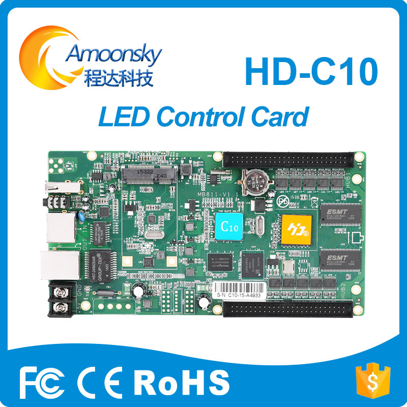 Full color Asynchronous huidu controller  HD-C10 For small/middle  led display with 3G and wifi controller