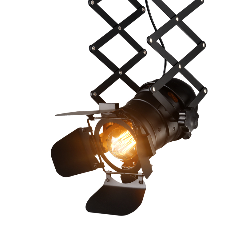 Loft E27 Adison Bulb Stretchable Plafondlamp Verstelbare Woonkamer Pub Stage Club Cafe Lifting Lamp Doek Winkel Winkel Lamp Wees Nieuw In Ontwerp