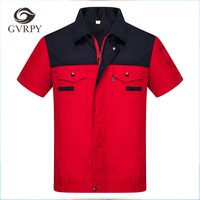 8 Colors High Quality S 4XL Unisex Engineering Uniforms Work Clothing Summer Short Sleeves Repairment Workshop Jackets and Pants
