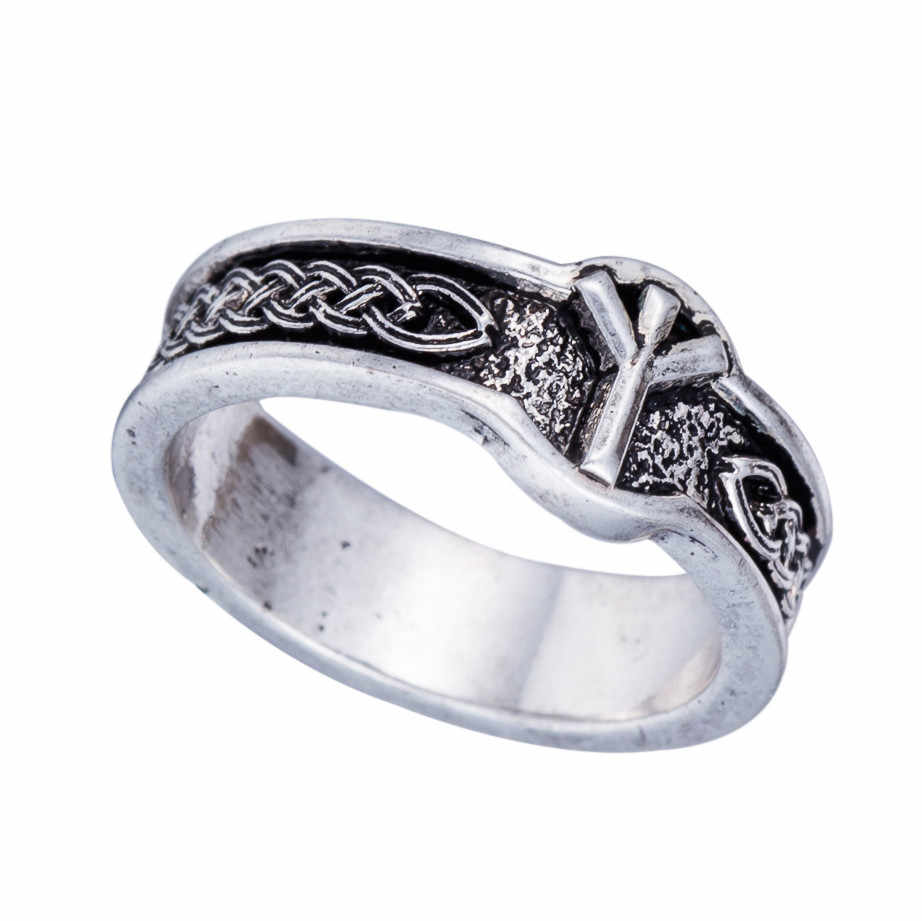 Dawapara 1 pc Amulet Norse Rune Viking Vintage Finger Ring Punk Style Retro Male Jewelry Gothic Female Black Rings For Women
