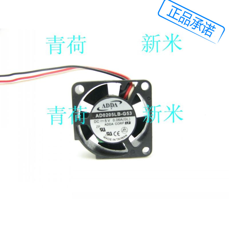 USED ADDA AD0205LB-G53 5V 0.06A 2510 2.5cm miniature micro cooling fan