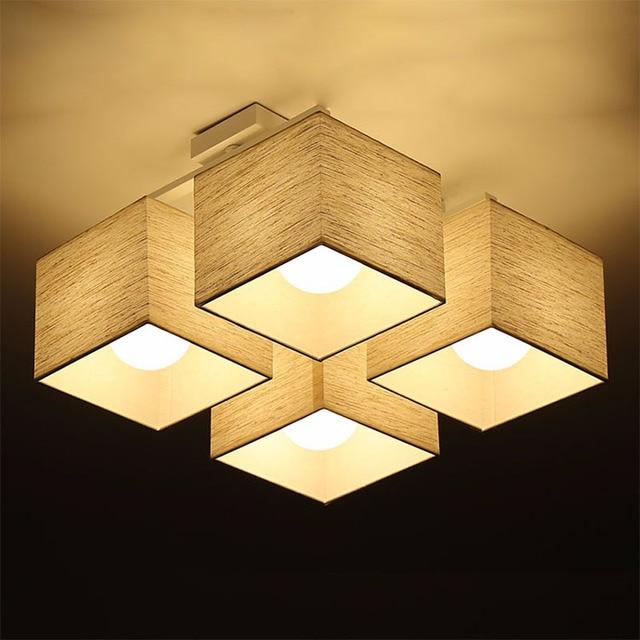 Stoff Kunst Tuch Led Deckenleuchte Nordic Deckenleuchten Moderne Wohnzimmer Lampe Schlafzimmer Beleuchtung