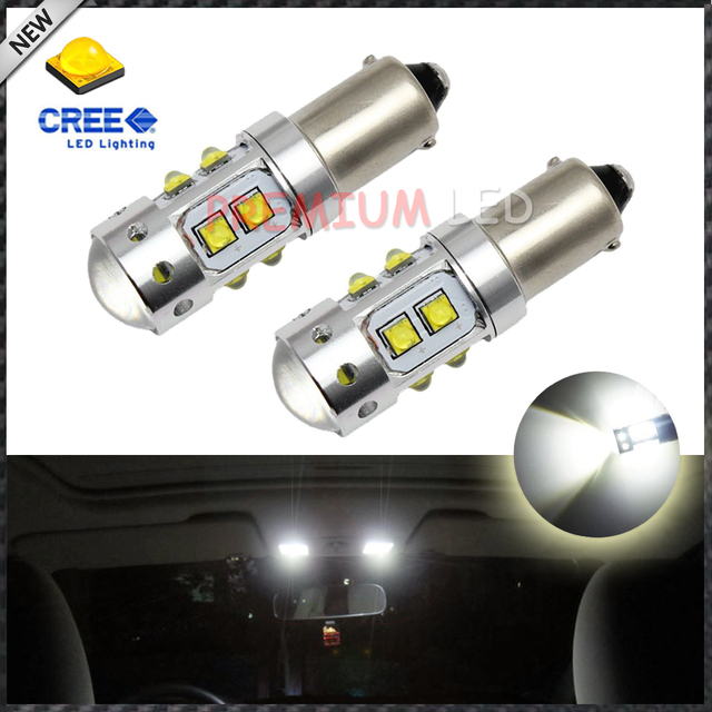 2pcs High Power 50W Extreme Bright 10-CRE'E XB-D  BA9S 641 BA9 LED Bulbs  for Interior Map Dome Light Backup Parking Lights,etc
