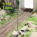 GY19150 12 шт. Модель Поезда Железнодорожный Плоским телефонные столбы 1:150 Масштаб N провод НОВЫЙ