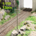 GY19150 12pcs Model Train Railway Flat telephone poles 1:150 Scale N wire NEW