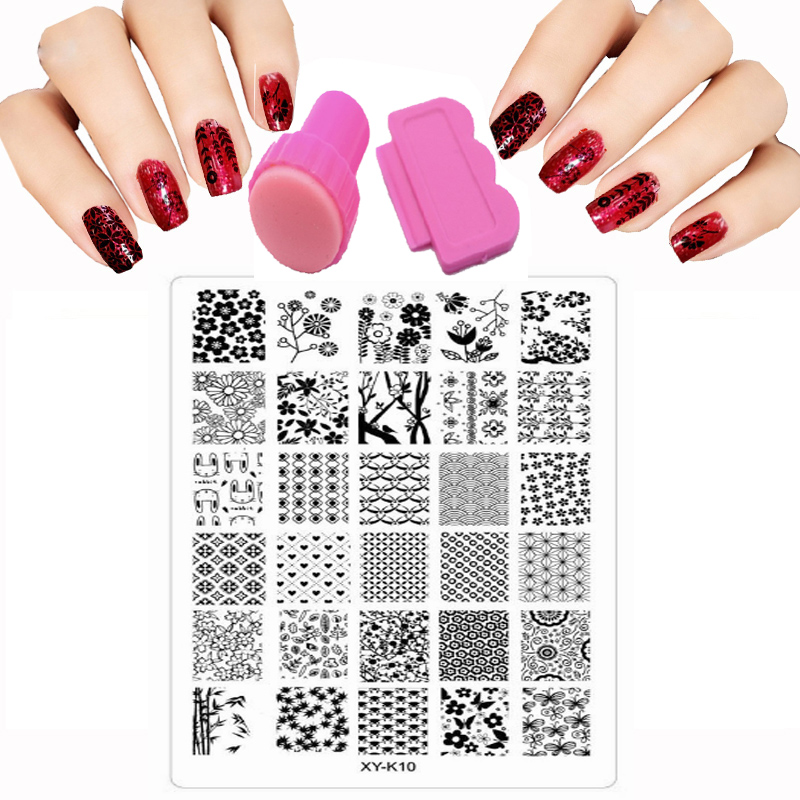 9.5x14.5 cm 30 Estilo Sello Nail Art Stamping Plate Plantilla de - Arte de uñas