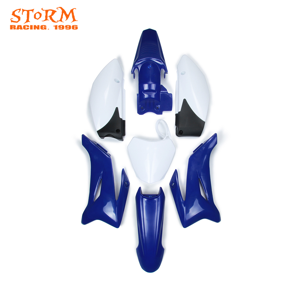 Motorcycle Plastic Kit Front and Rear Side number plates Fender Tank shrouds For YAMAHA TTR110 TTR 110 and Chinese 125CC new blue plastic fender body cover fairing kit for yamaha ttr110 ttr 110 pit dirt bike off road motorcycle
