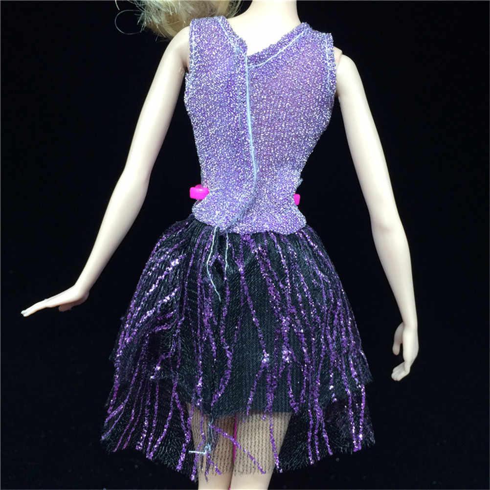 Один комплект одежды для куклы, Новые Вечерние платья ручной работы, одежда, платье для лучшего детского подарка