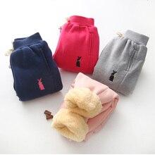 Bibicola зима теплая бархатная Штаны однотонные детские штаны шаровары для малышей для маленьких мальчиков и девочек спортивные штаны