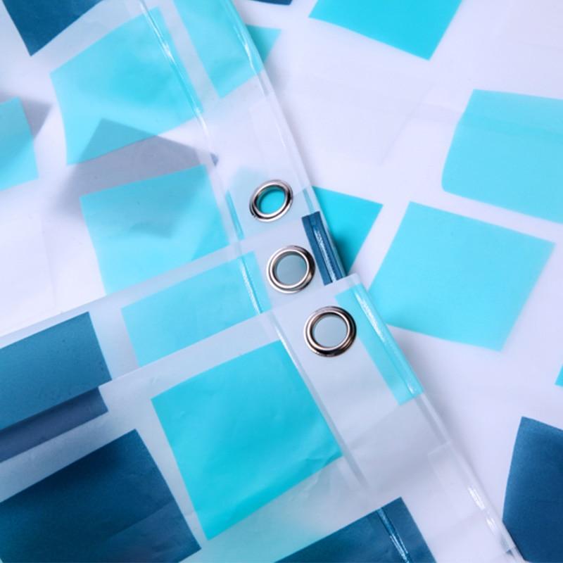 Elegante rasterstijl Waterdichte douchegordijnen Warme ondoorzichtige - Huishouden - Foto 2