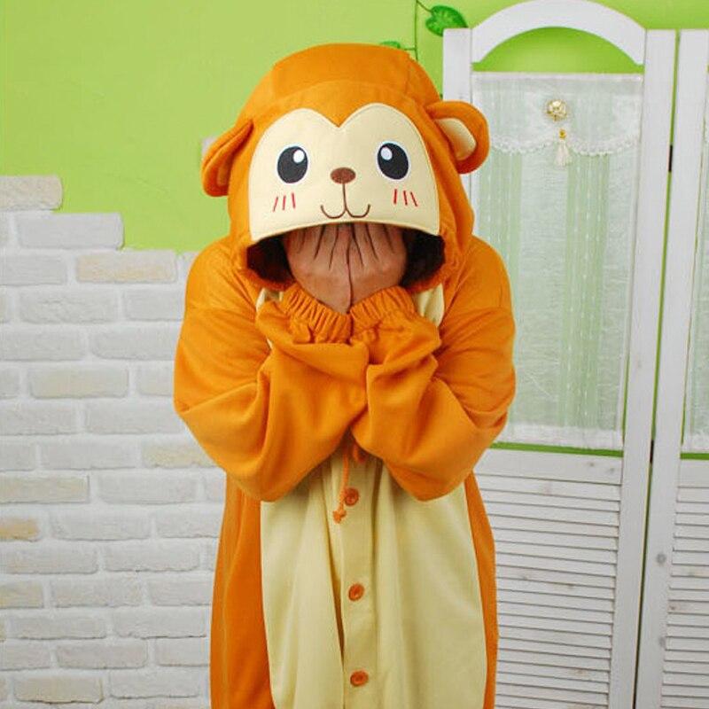 HKSNG Christmas Party Winter Warm Adult Animal Monkey Pajamas Flannel  Kigurumi Onesie Cosplay Homewear For Girls and Women-in Pajama Sets from  Underwear ... 12f5fbe6b42b7