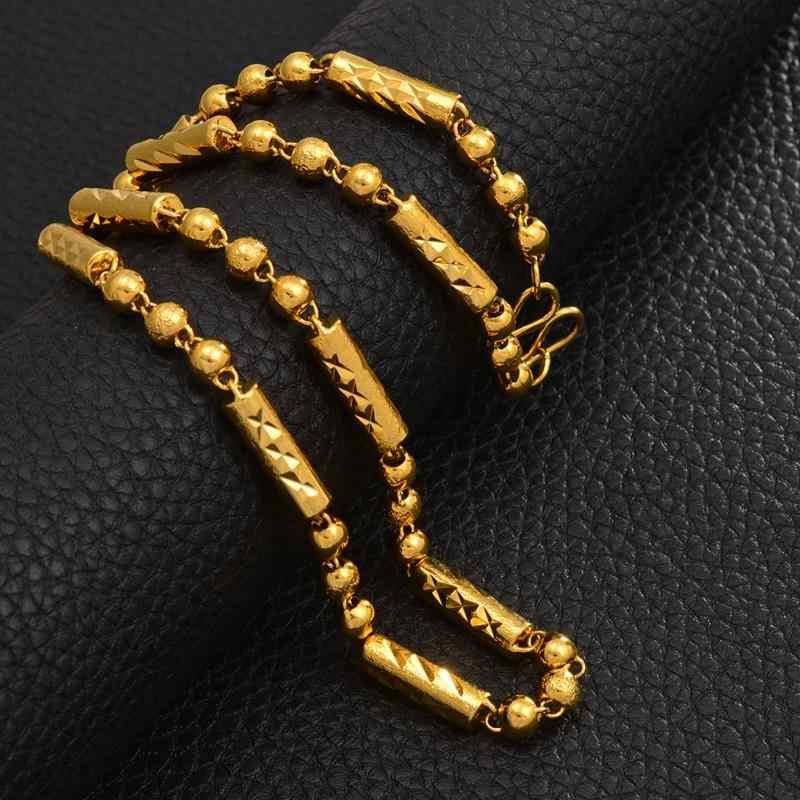 Anniyo koraliki naszyjniki dla kobiet mężczyzn ciężki łańcuch złoty kolor afryki biżuteria Marshall hawaje prezent #040506