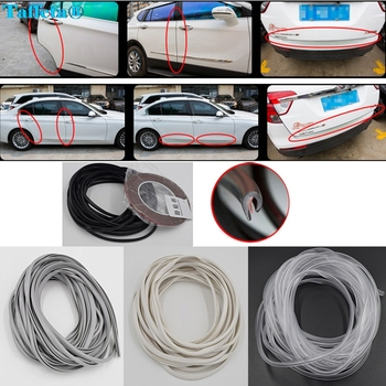 5M Moulding Trim Strip Car Door Scratch Protector Edge Guard Cover Crash Rubber Sealing Strip Anti Wear Rubber Strip image