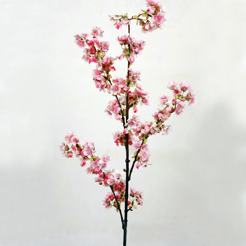5 個装飾シルク桜人工花の結婚式の装飾さくら偽花センターピースの装飾桃の花  グループ上の ホーム&ガーデン からの 造花 & ドライフラワー の中 3