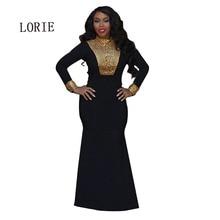 2016 New Black Mermaid Plus Size Prom Dress Robe De Soirre Long Sleeve kaftan dubai fancy farasha abaya jalabiya islamic hijab