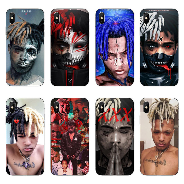 new style 7933a e1a67 US $0.81 42% OFF|Aliexpress.com : Buy High quality Soft silicone  Xxxtentacion Case Cover For Apple iPhone 6 6s 7 8 Plus X 10 5 5S SE  Transparent Phone ...