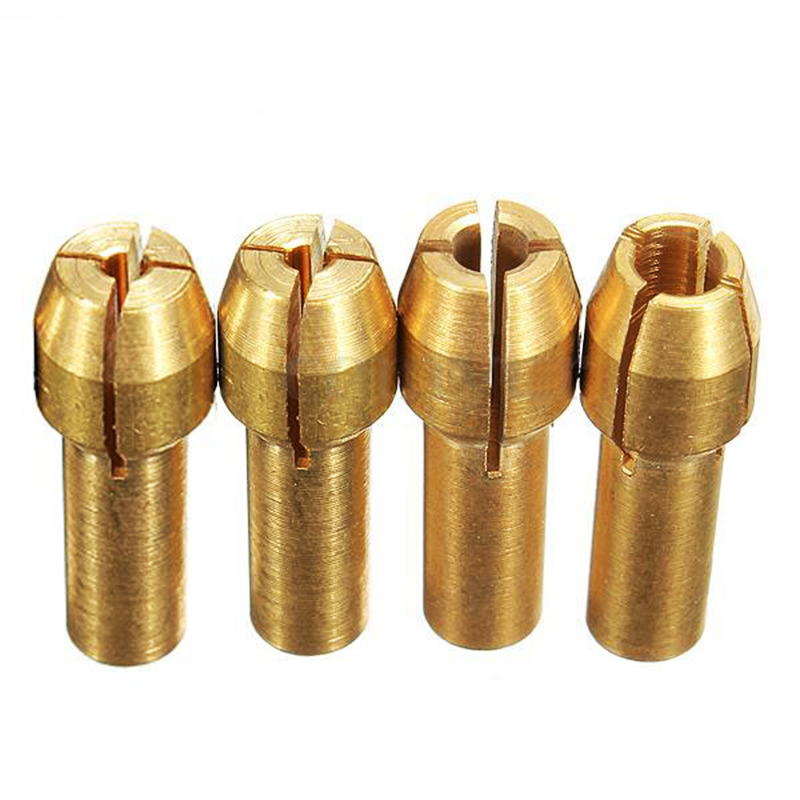4pcs Rotary Multi Tool Collet Nut Kit Set For 0.8/ 1.6/ 2.35/ 3.2MM