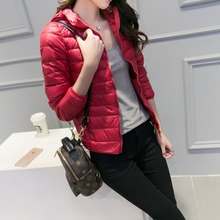 New Ultra Light Thin Winter Jacket Women 90% White Duck Down