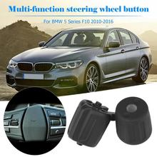 2pcs/set Steering Wheel Multifunction Switch Rubber Buttons for 5 Series GT F10 Steering Wheel Buttons