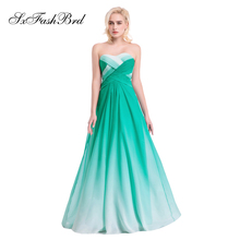 Vestido De Festa Schatz Eine Linie Sommer Multicolor Chiffon Lange Formale Partei Elegante Abendkleider für Frauen Abendkleid