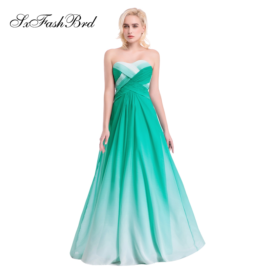 Vestido De Festa Sweetheart A Line Summer Multicolor Chiffon Long Formal Party Elegant   Evening     Dresses   for Women Prom   Dress