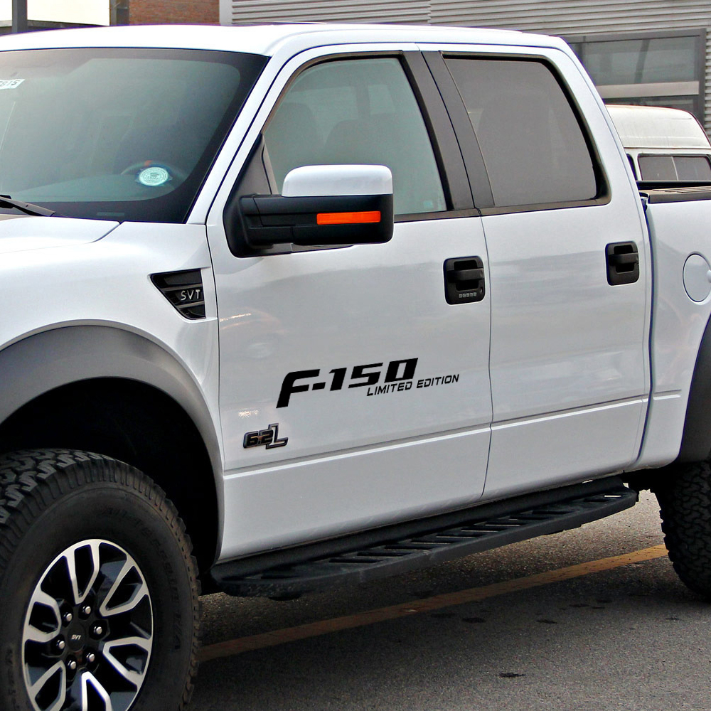 Reflective F-150 Performance Door Side Stripe Graphics Vinyl Decal Car <font><b>Sticker</b></font> for <font><b>Ford</b></font> <font><b>Raptor</b></font> F150 SVT Ranger Accessories image