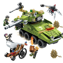 SEMBO Military Series Army Car Tank Chariot Weapon Building Blocks Kit Bricks Educational Toys for Children