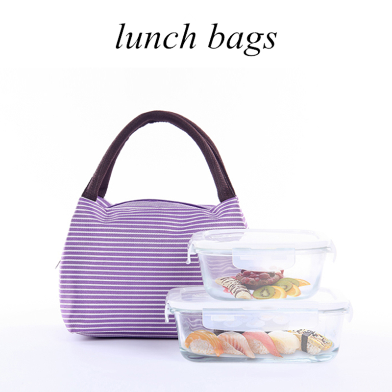 IUX Fashion Portable Insulated Canvas lunch Bag Thermal Food Picnic Lunch Bags for Women kids Men Cooler Lunch Box Bag Tote