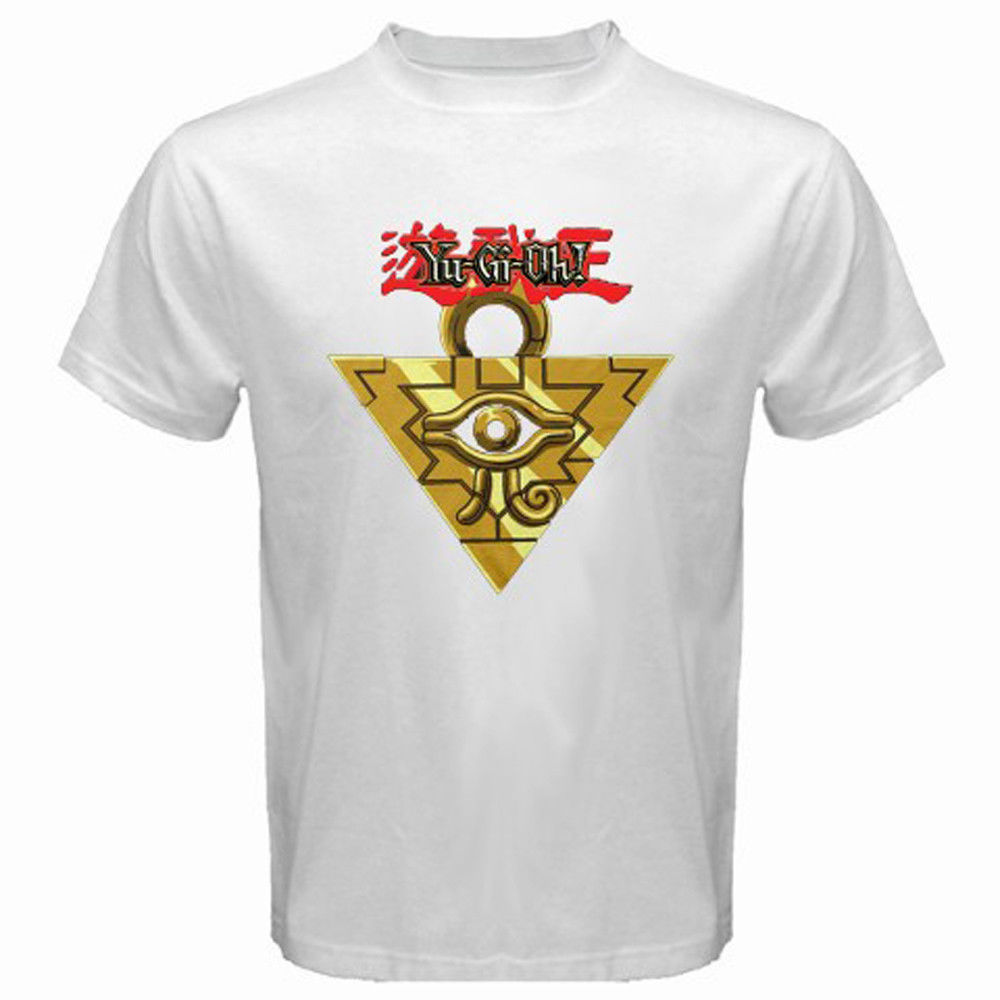 New YU GI OH Millenium Puzzle Anime Manga Cartoon Mens White T-Shirt Size S-3XL