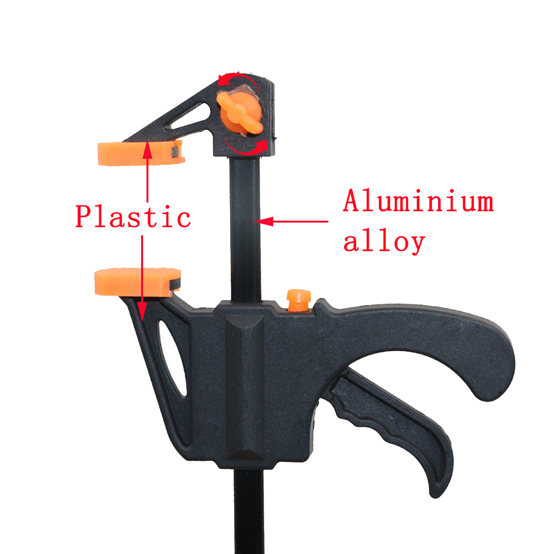 1pcs 4 Inch Wood-Working Bar Clamp Quick Ratchet Release Speed Squeeze DIY Hand Tools Color Random High Cost Performance