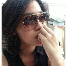 HBK Fashion Oversized Pilot Sunglasses Women