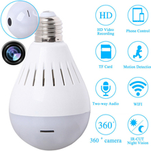 Full HD 1080P Wifi Camera Camcorder Light Bulb 360 Degree Panoramic Security Surveillance Wireless Ceiling Lamp Video Cameras