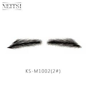Image 2 - زوج واحد من Neitsi Man الحاجبين وهمية 100% شعر الإنسان الحاجبين وهمية الدانتيل قاعدة M1002