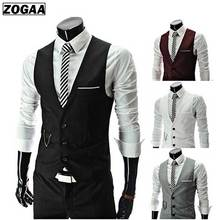 ZOGAA Mens Suit Vest British Style Men Formal Chalecos Spring and Autumn Para Hombre Waistcoat For